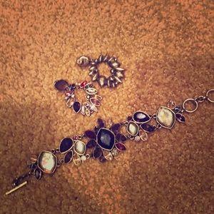 Chloe & Isabel earrings and bracelet